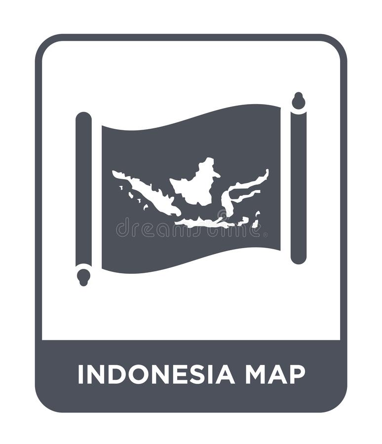 Indonesia map icon in trendy design style. indonesia map icon isolated on white background. indonesia map vector icon simple and. Modern flat symbol for web vector illustration