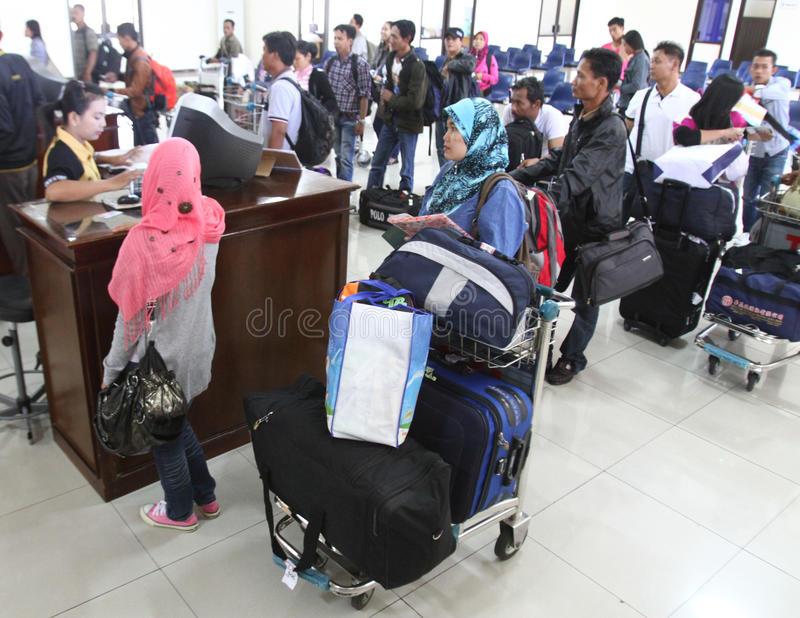 Indonesia migrant worker (TKI) royalty free stock photography