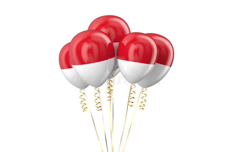 Indonesia patriotic balloons holyday concept. Indonesia patriotic balloons, holyday concept isolated on white background vector illustration