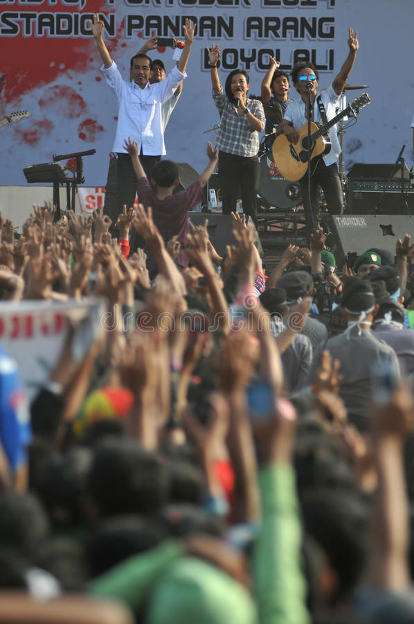 Indonesia Politics - A concert to celebrate The victory of Joko Widodo as presiden-elect royalty free stock photo