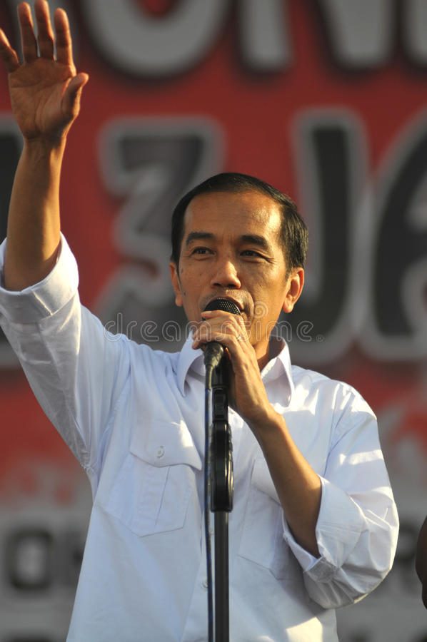 Indonesia Politics - A concert to celebrate The victory of Joko Widodo as presiden-elect stock photography