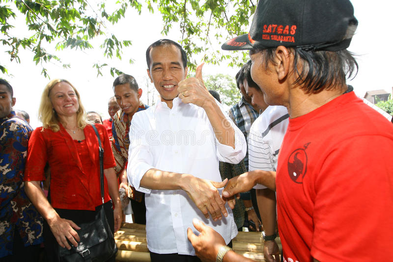 Indonesia President Joko Widodo. Indonesian President Joko Widodo a state visit in the city of Solo, Central Java, Indonesia stock image