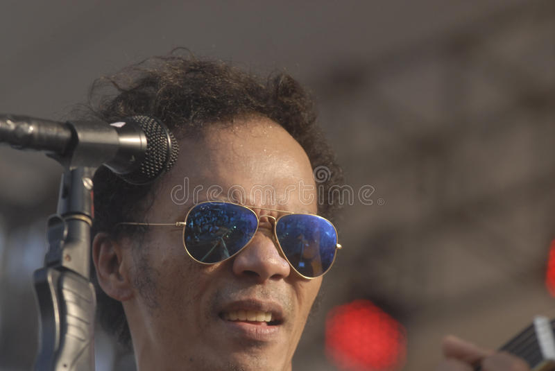 INDONESIA'S LEGENDARY ROCK GROUP. Indonesian legendary rock band Slank while performing at Boyolali, Java, Indonesia. The group which is considered a cult by its stock image