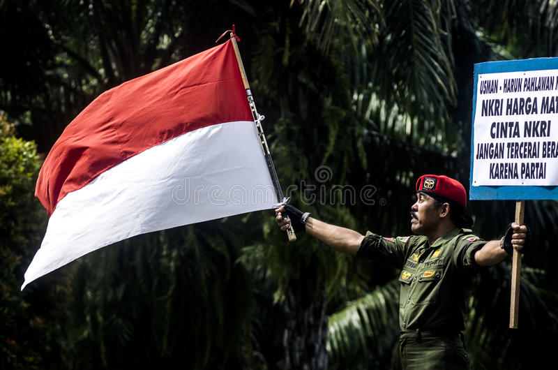 INDONESIA'S STRONGEST ARMY MAN stock image