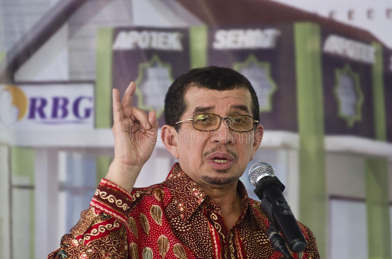 INDONESIA SOCIAL WELFARE DISTRIBUTION. Former Minister of Social Welfare of Indonesia, Salim Segaf Al Jufri. Indonesia is still struggling to equalize its social stock images