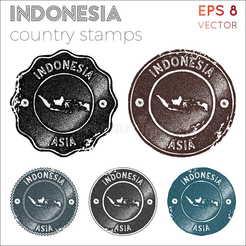 Indonesia stamps collection. stock photo