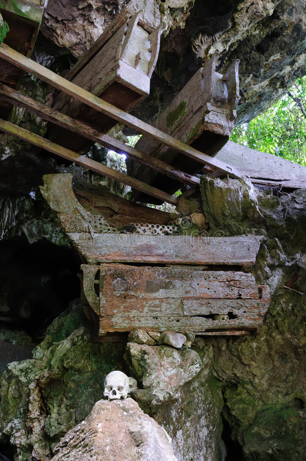 Indonesia, Sulawesi, Tana Toraja, Ancient Tomb Stock Image