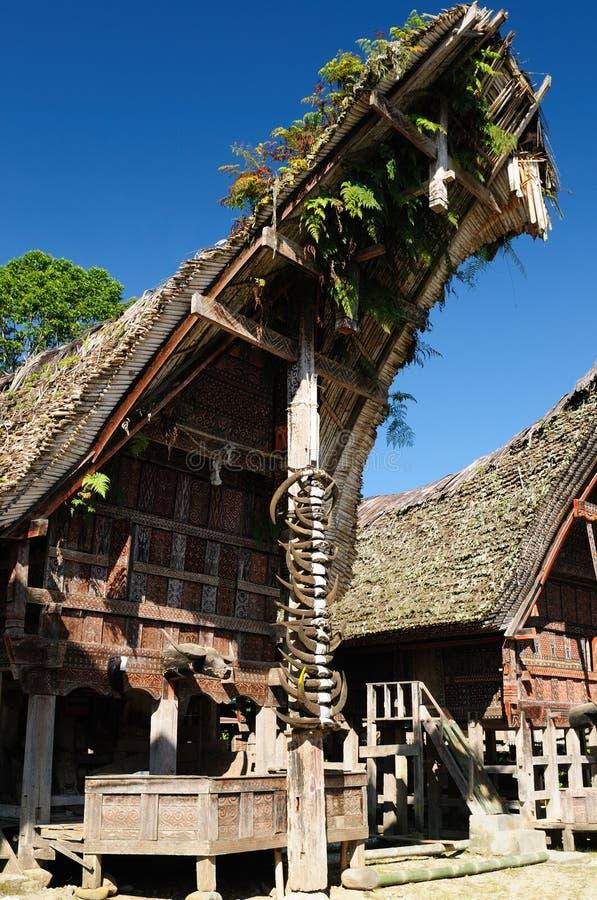 Indonesia, Tana Toraja, aldea tradicional fotos de archivo