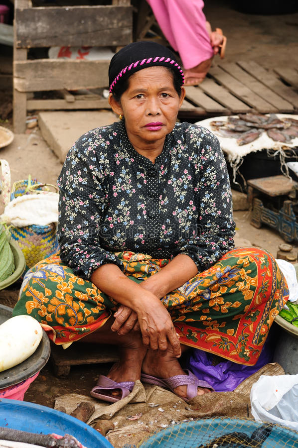 Indonesia - Traditional Tribal Market Editorial Photography