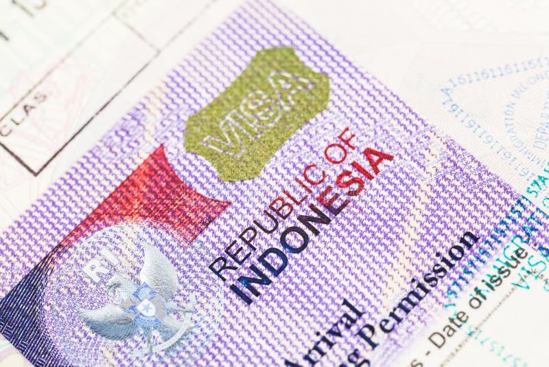 Indonesia Visa royalty free stock photos