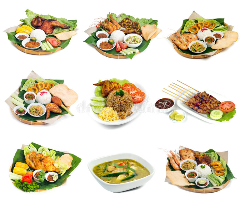 Indonesian bali food on background. Indonesian bali food on the background stock image