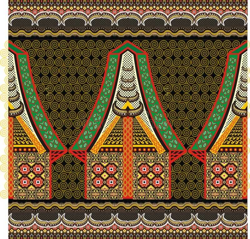 Seamless Vintage Toraja Color Pattern. Ethnic Vector