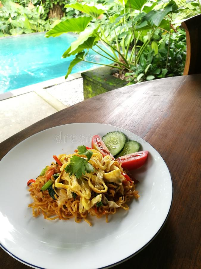 Indonesian cuisine dish, mee goreng royalty free stock photography