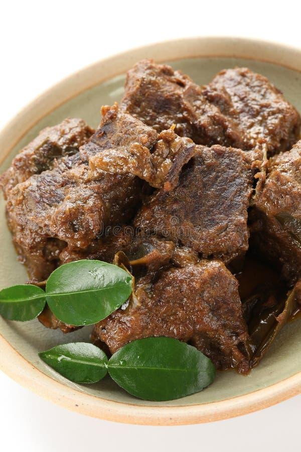 Rendang beef royalty free stock photo
