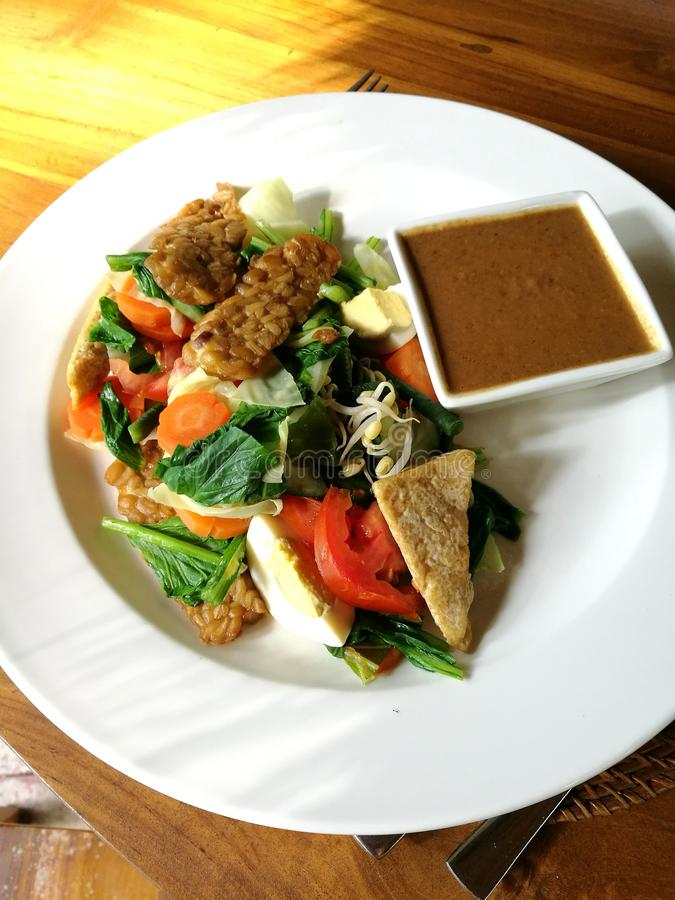 Indonesian dish gado gado royalty free stock photos