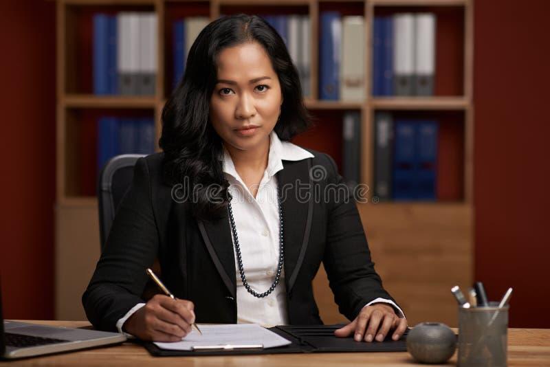Indonesian female lawyer royalty free stock photo