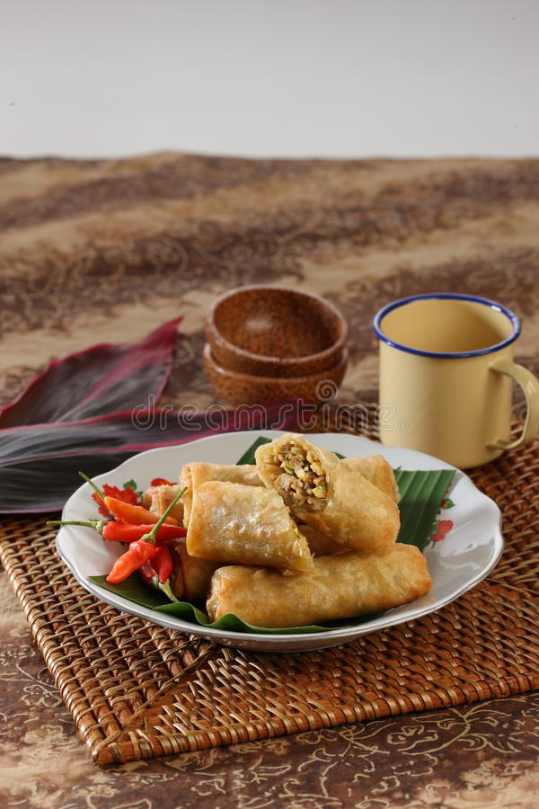 Indonesian food. Indonesian traditional food called risol stock photos