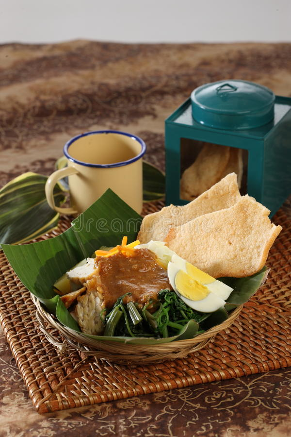 Indonesian food. Traditional indonesian food called gado gado royalty free stock photography