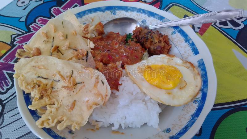 Indonesian food stock photo