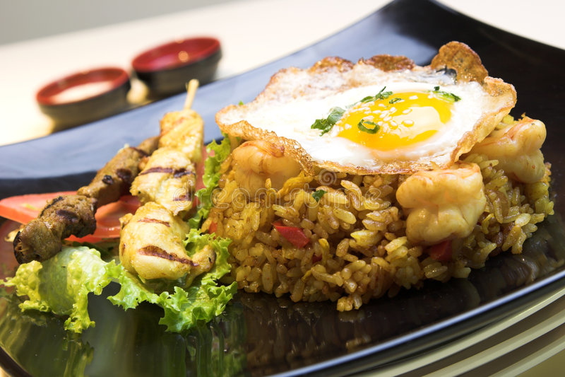 Indonesian Fried Rice Royalty Free Stock Images