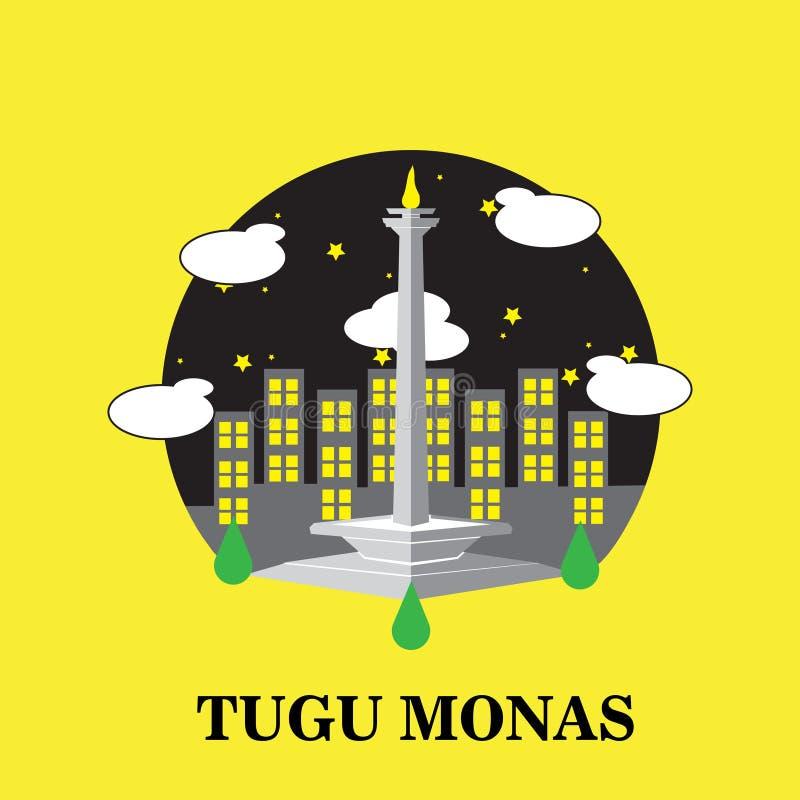 Indonesian landmark icon stock illustration