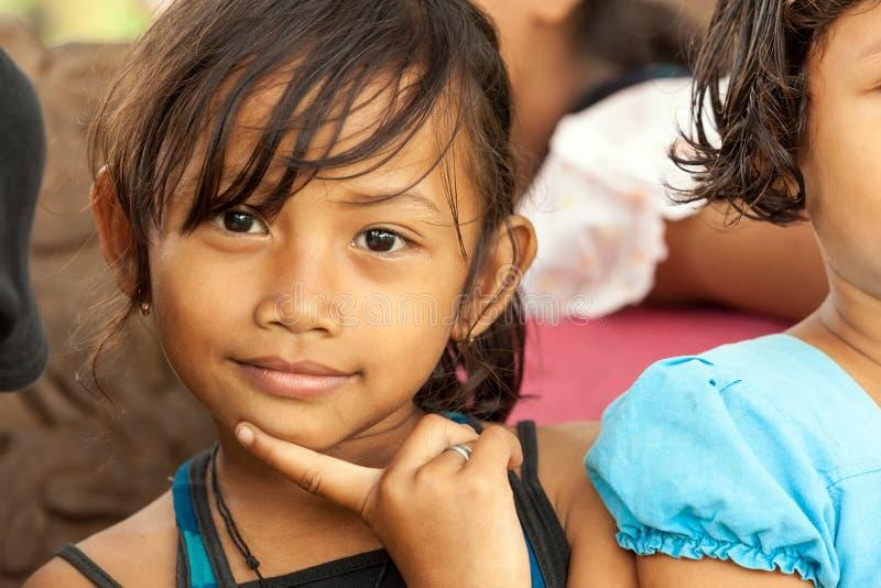 Indonesian little girl portrait royalty free stock image