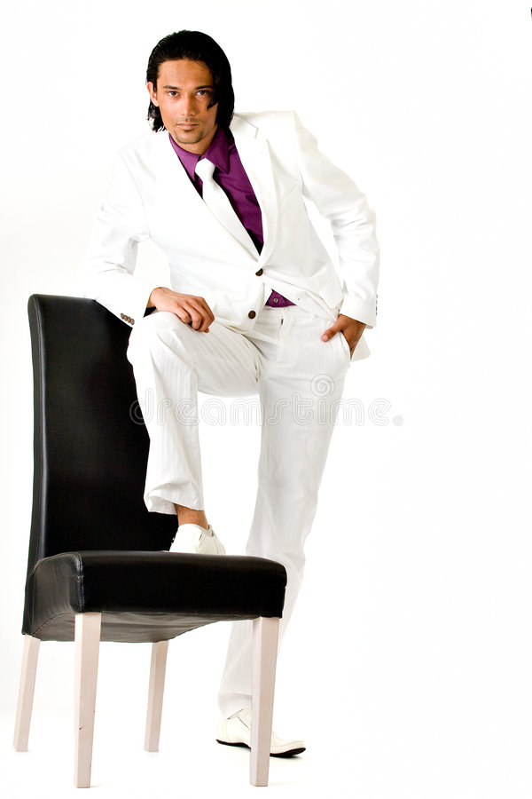 Indonesian man in a busniess suit royalty free stock image