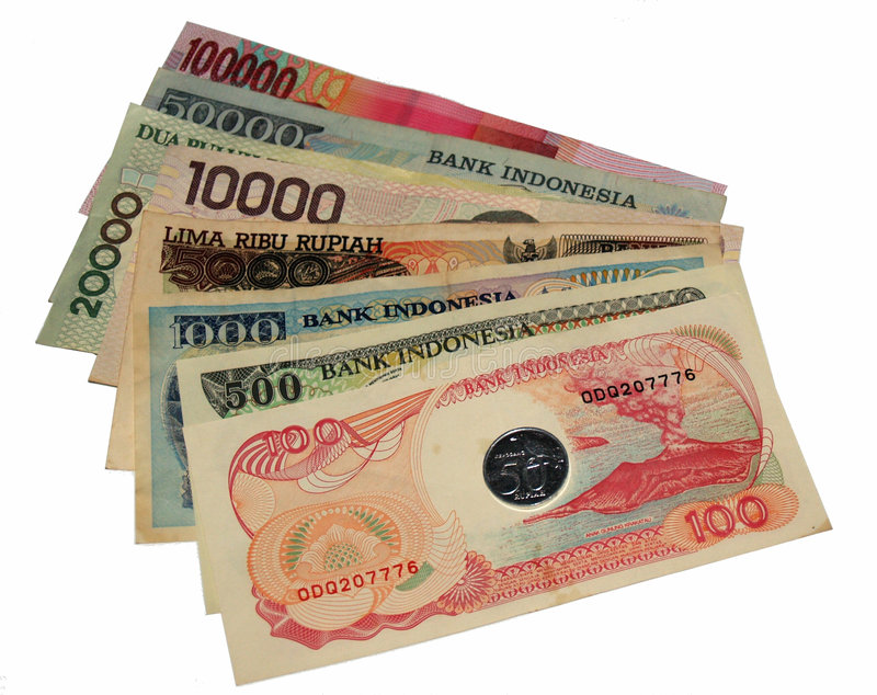 Indonesian money. Old and new Indonesian money stock image