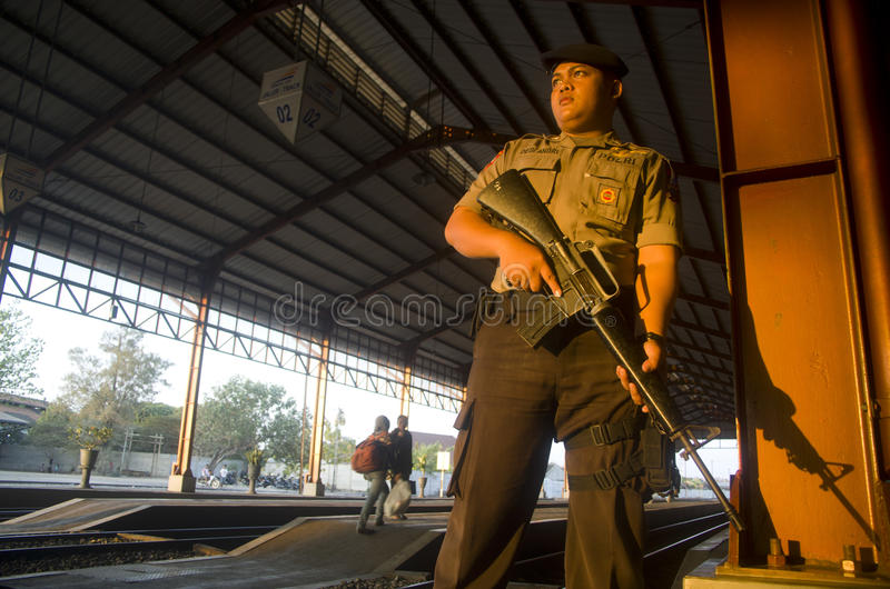 INDONESIAN POLICE FORCE POWER royalty free stock image