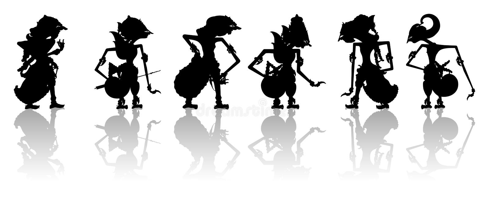 Indonesian Puppets royalty free stock photography