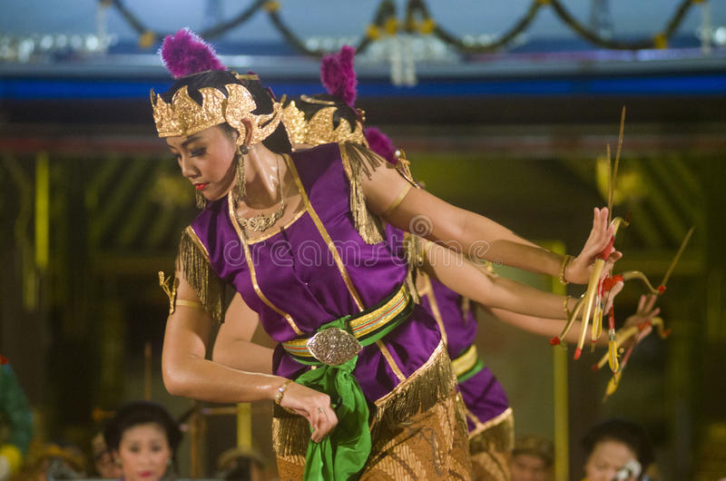 INDONESIAN ROYAL CLASSIC DANCE royalty free stock images