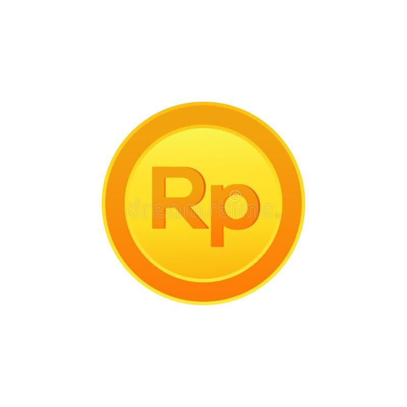 Indonesian Rupiah coin icon vector illustration. Symbols of currencies. Indonesian Rupiah coin icon. Symbols of currencies royalty free illustration