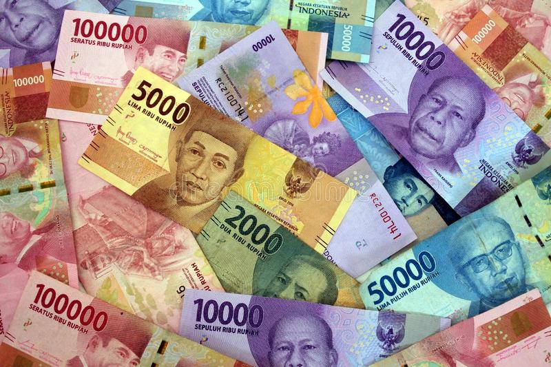 Indonesian rupiah currency of Indonesia. Bank notes money background and concept royalty free stock image