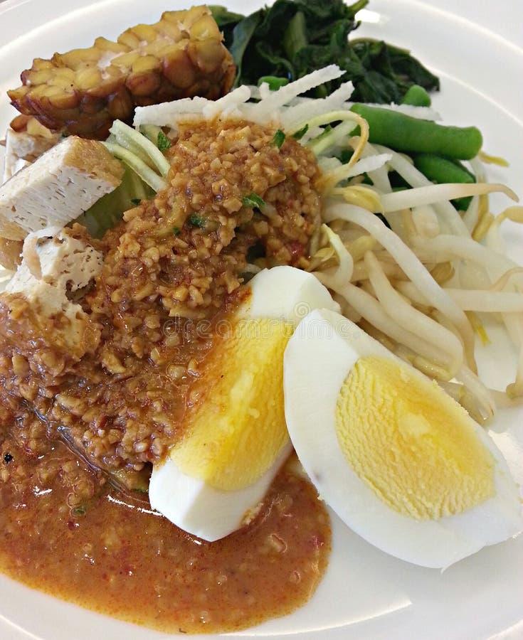 Indonesian Salad Gado gado stock photos
