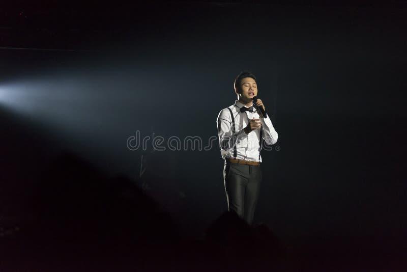 Rizky Febian in concert stock photos
