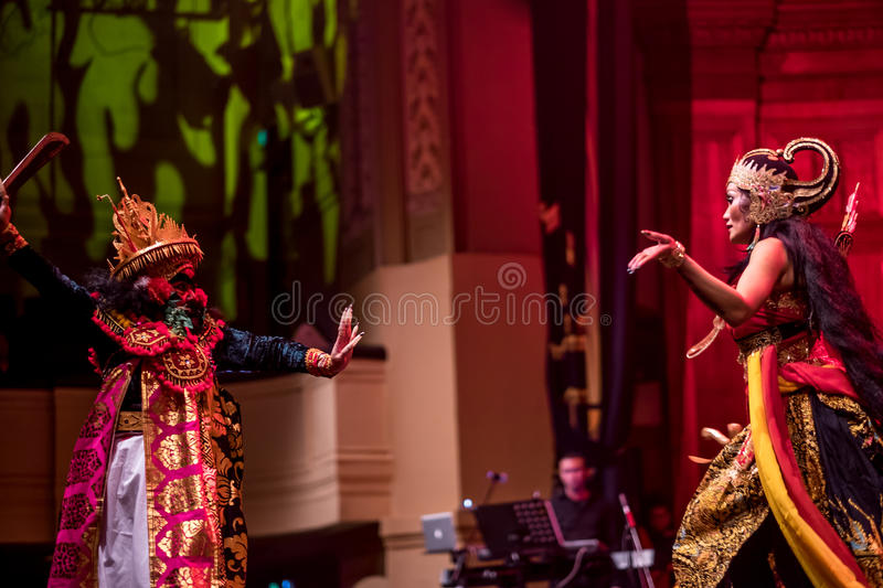 Indonesian Story and Life Performing royalty free stock images