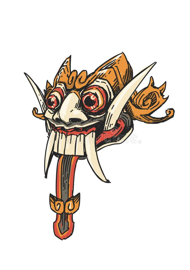 Indonesian traditional bali dance mask vector illustration