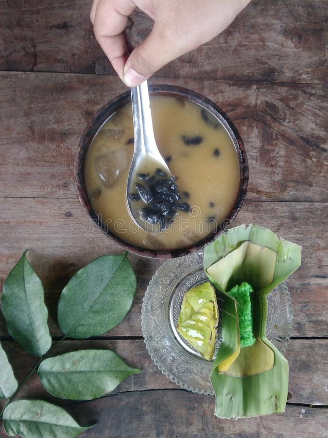 indonesian traditional drink called dawet stock images