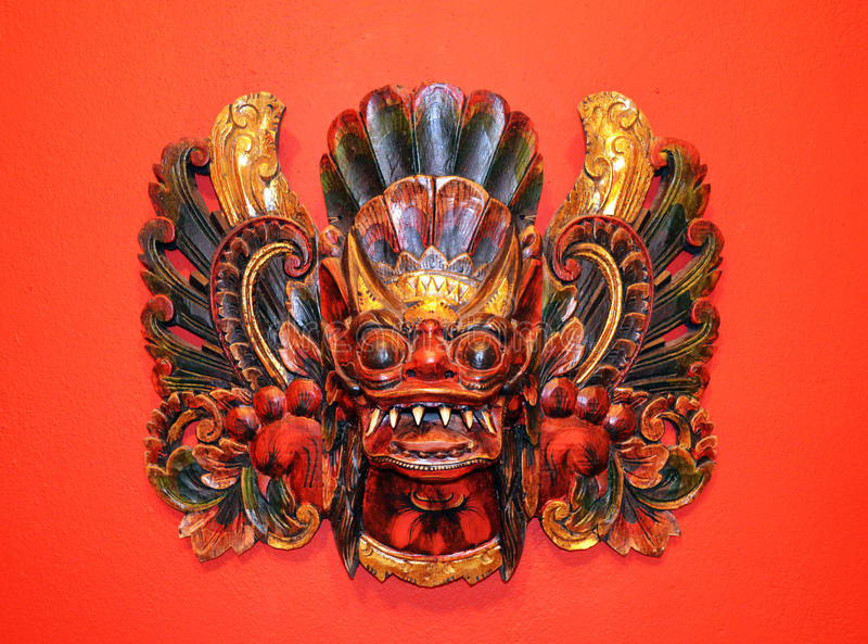 Indonesian Wooden Mask Royalty Free Stock Photos