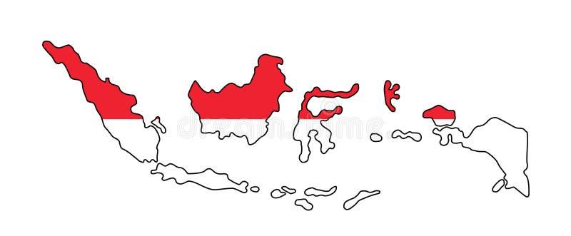 Indonesien Översikt av den Indonesien vektorillustrationen royaltyfri illustrationer