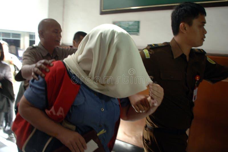 Indonesien Britannien drogförsök fotografering för bildbyråer