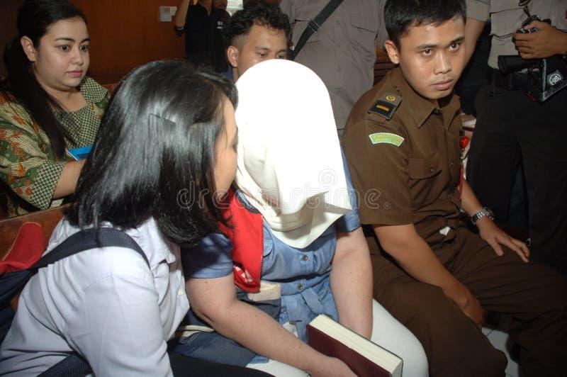 Indonesien Britannien drogförsök royaltyfri foto