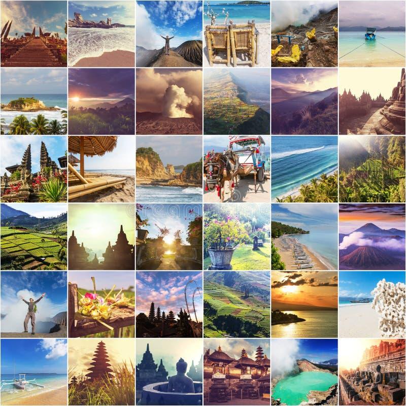 Indonesien-Collage stockfotos