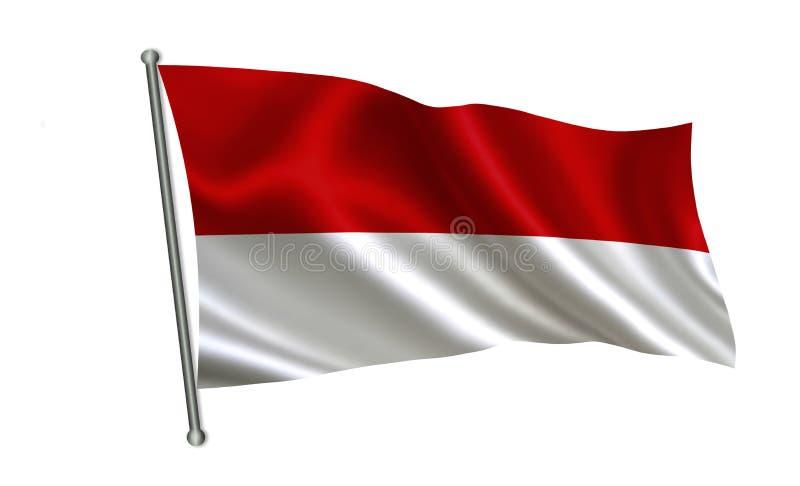 Indonesien flagga En serie av `-flaggor av världen ` Landet - Indonesien flagga stock illustrationer