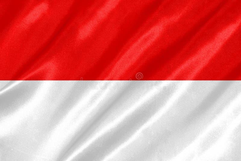 Indonesien-Flagge lizenzfreie abbildung