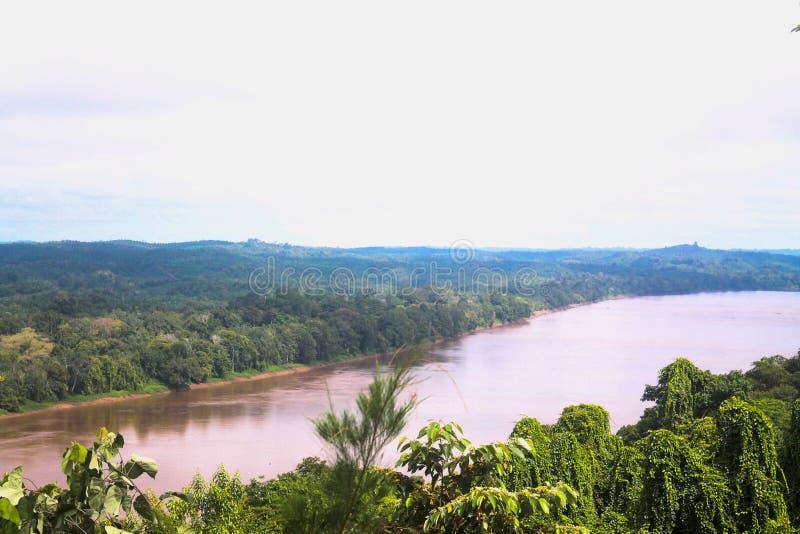 Indonesien flod royaltyfri bild