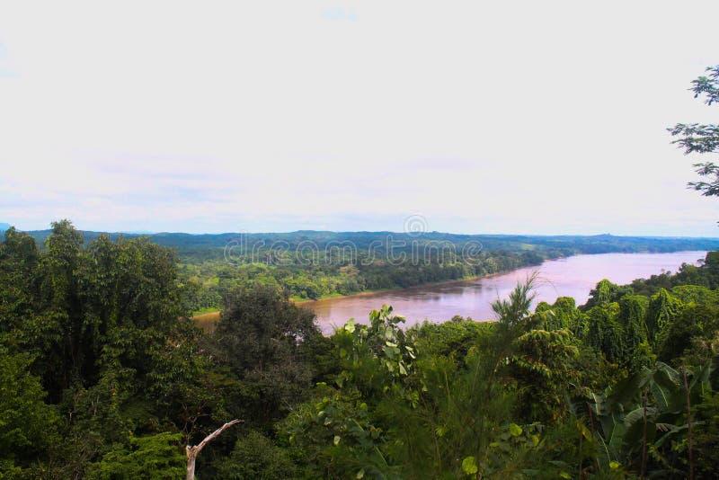 Indonesien flod arkivfoto