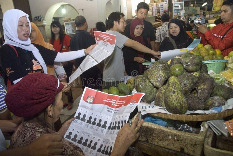 INDONESIEN I ALL HAST FÖRBEREDDA VAL royaltyfria bilder