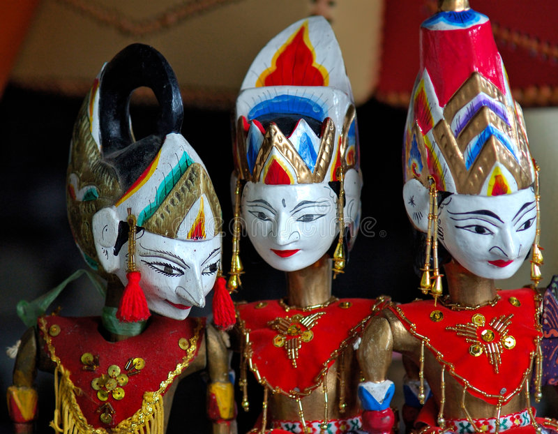 Indonesien, JAVA: Traditionelle Marionette lizenzfreie stockbilder