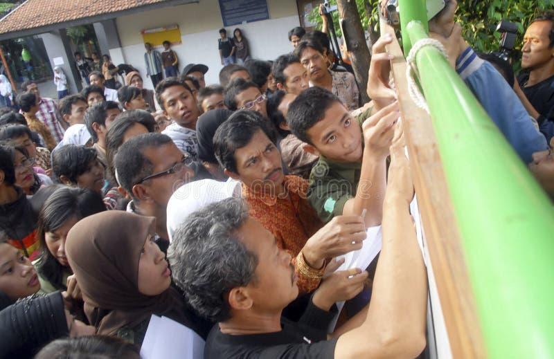 INDONESIEN LÅGT KOMPETENT KANDIDAT royaltyfria foton